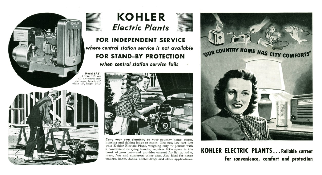 KOHLER electric plants